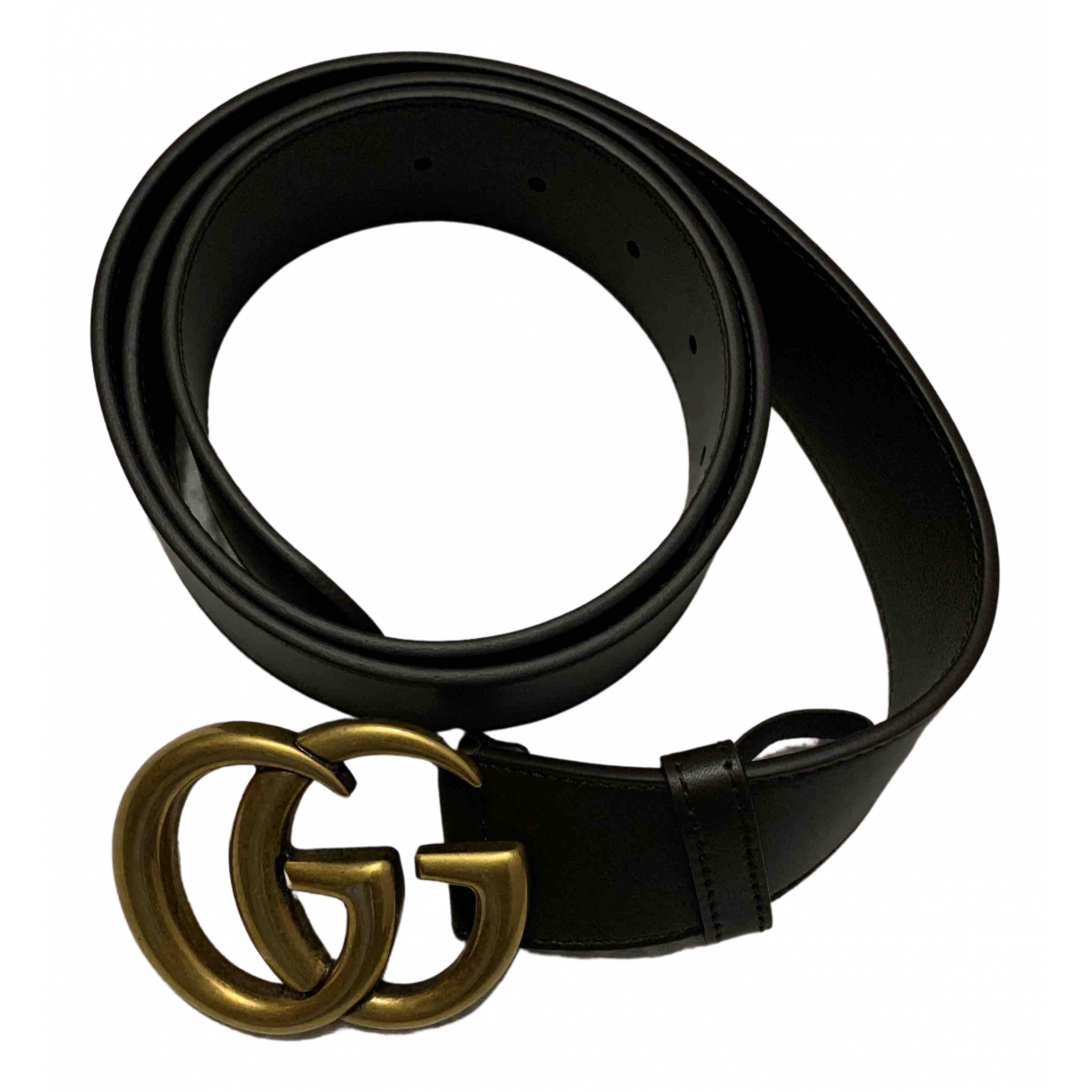 Gucci GG Buckle Brown Leather belt for Men 100 cm