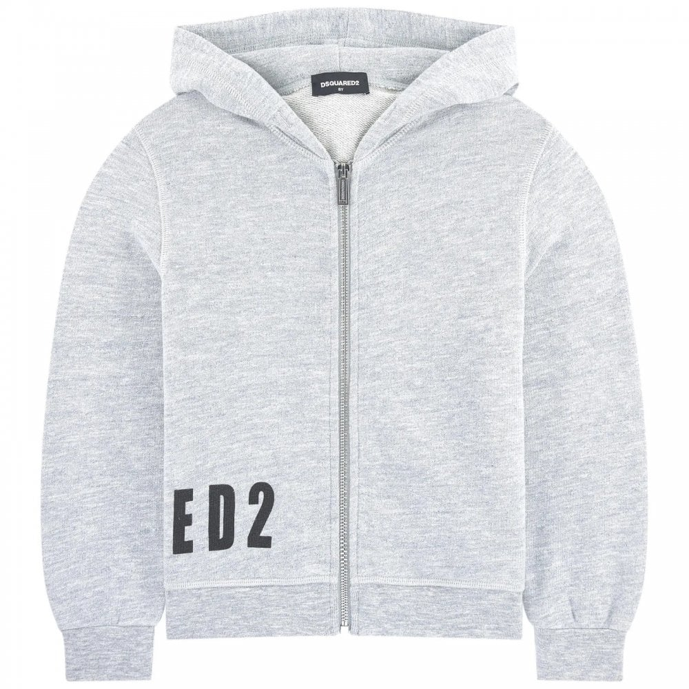 Dsquared2 Side Logo Hoodie Colour: GREY, Size: 14 YEARS