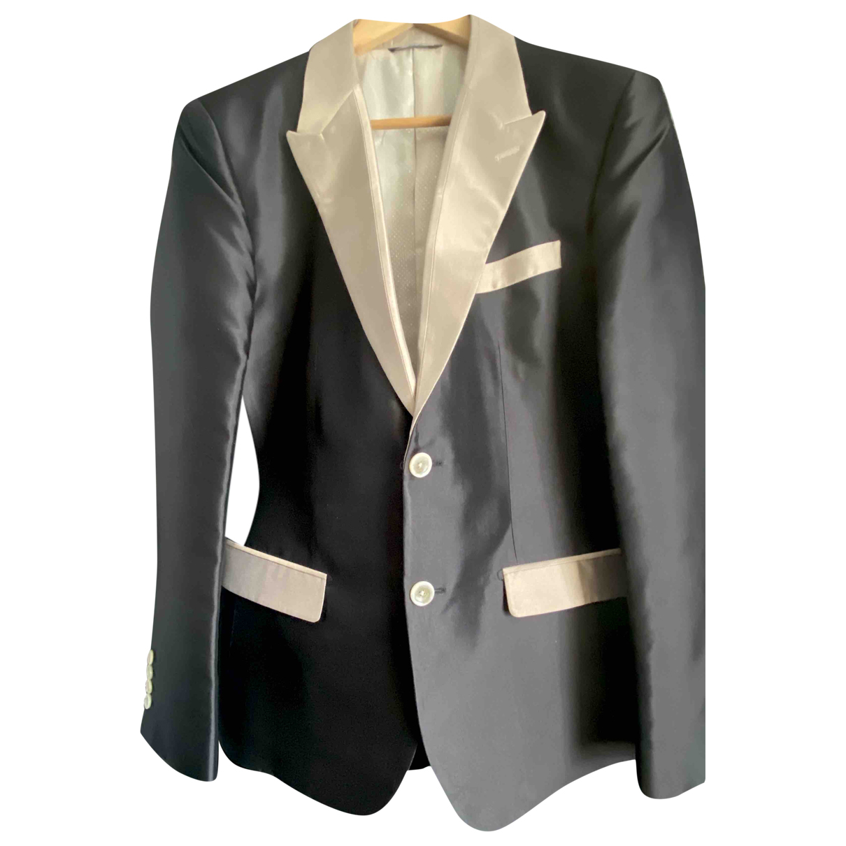Dolce & Gabbana \N Black Silk jacket  for Men 50 IT