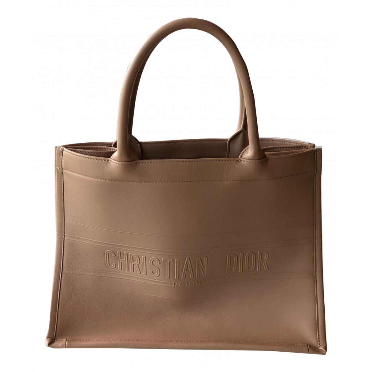 Dior Book Tote Handtasche in  Rosa Leder