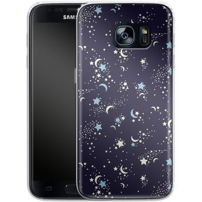 Samsung Galaxy S7 Silikon Handyhuelle - Mystical Pattern von caseable Designs