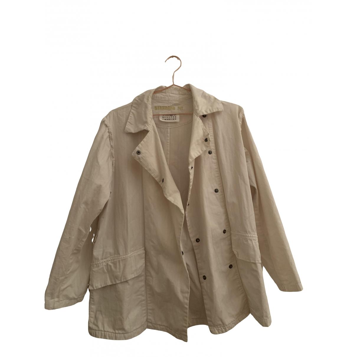 Mm6 \N Beige Cotton jacket for Women 44 IT