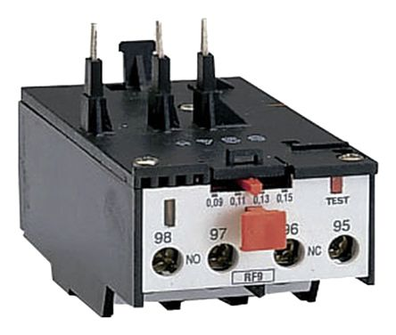Lovato Thermal Overload Relay - NO/NC (Auxiliary), 0.6 → 1 A Contact Rating, 0.55 kW, 690 V ac, 3P