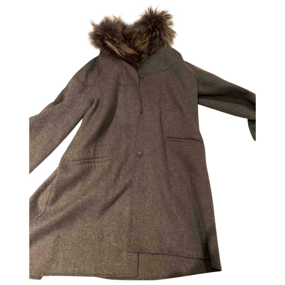 Sam Rone N Grey Cashmere coat for Women 36 FR