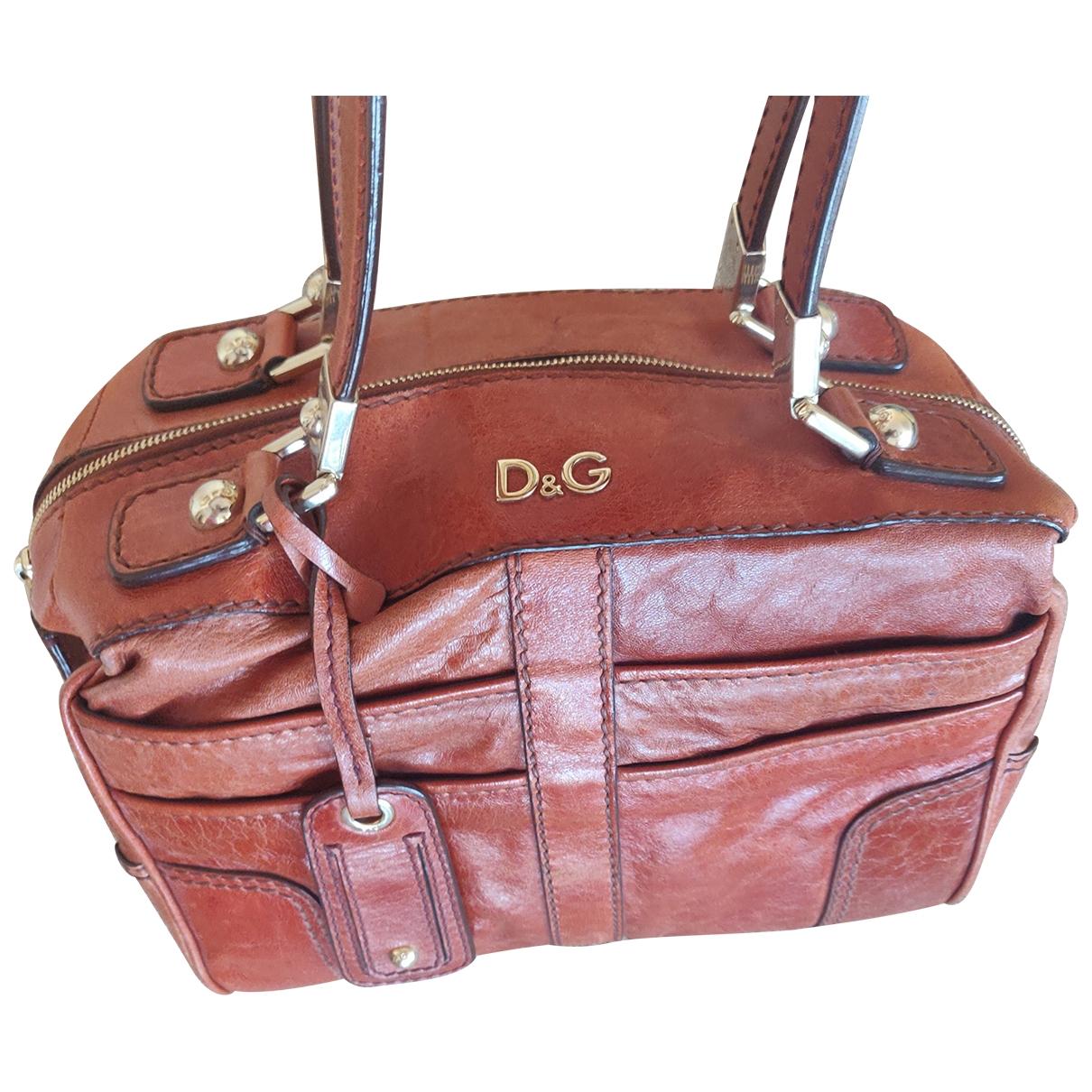 D&g \N Handtasche in  Braun Lackleder