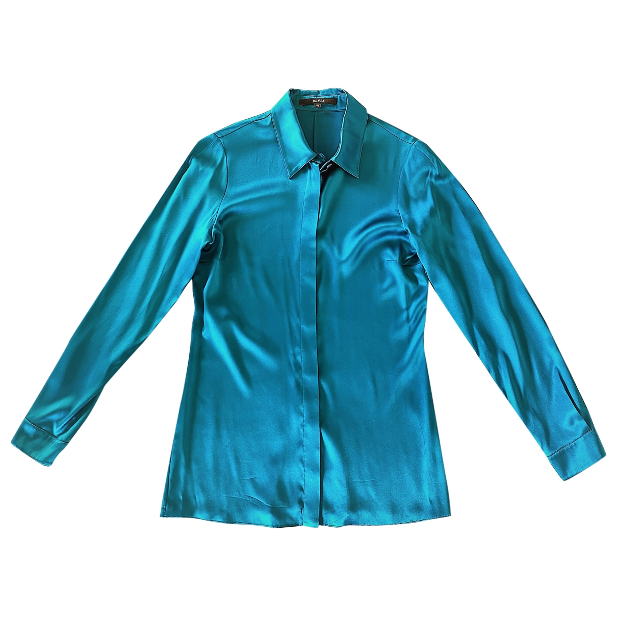 Gucci \N Turquoise Silk  top for Women 42 IT