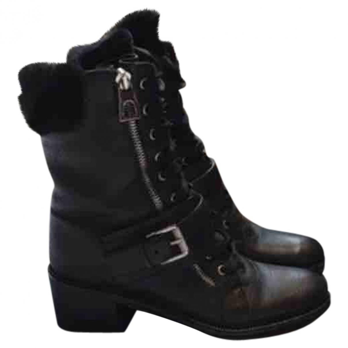 Barbara Bui - Boots   pour femme en cuir - noir