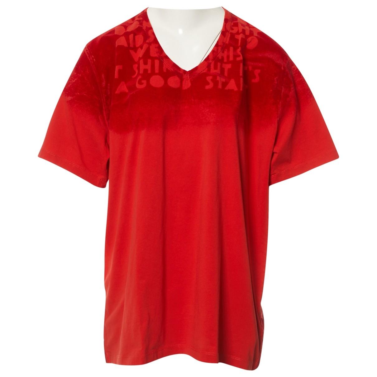 Maison Martin Margiela - Top   pour femme en coton - rouge