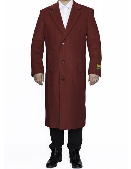 Mens Big And Tall Trench Coat Overcoat Topcoat 4XL 5XL 6XL Red