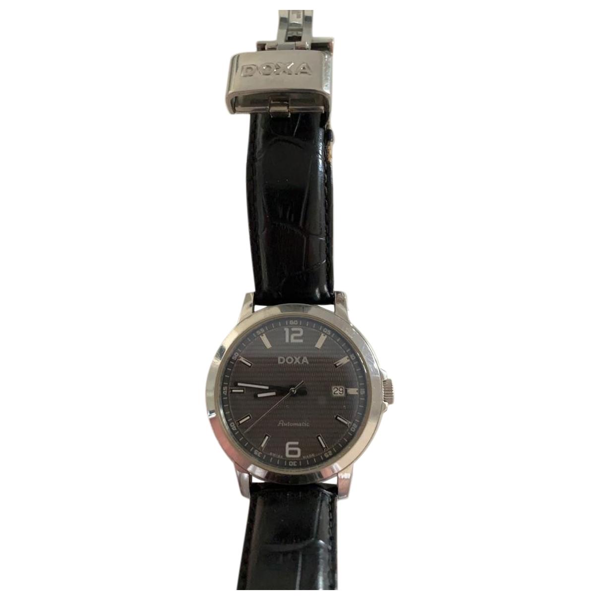 Doxa \N Grey Steel watch for Men \N