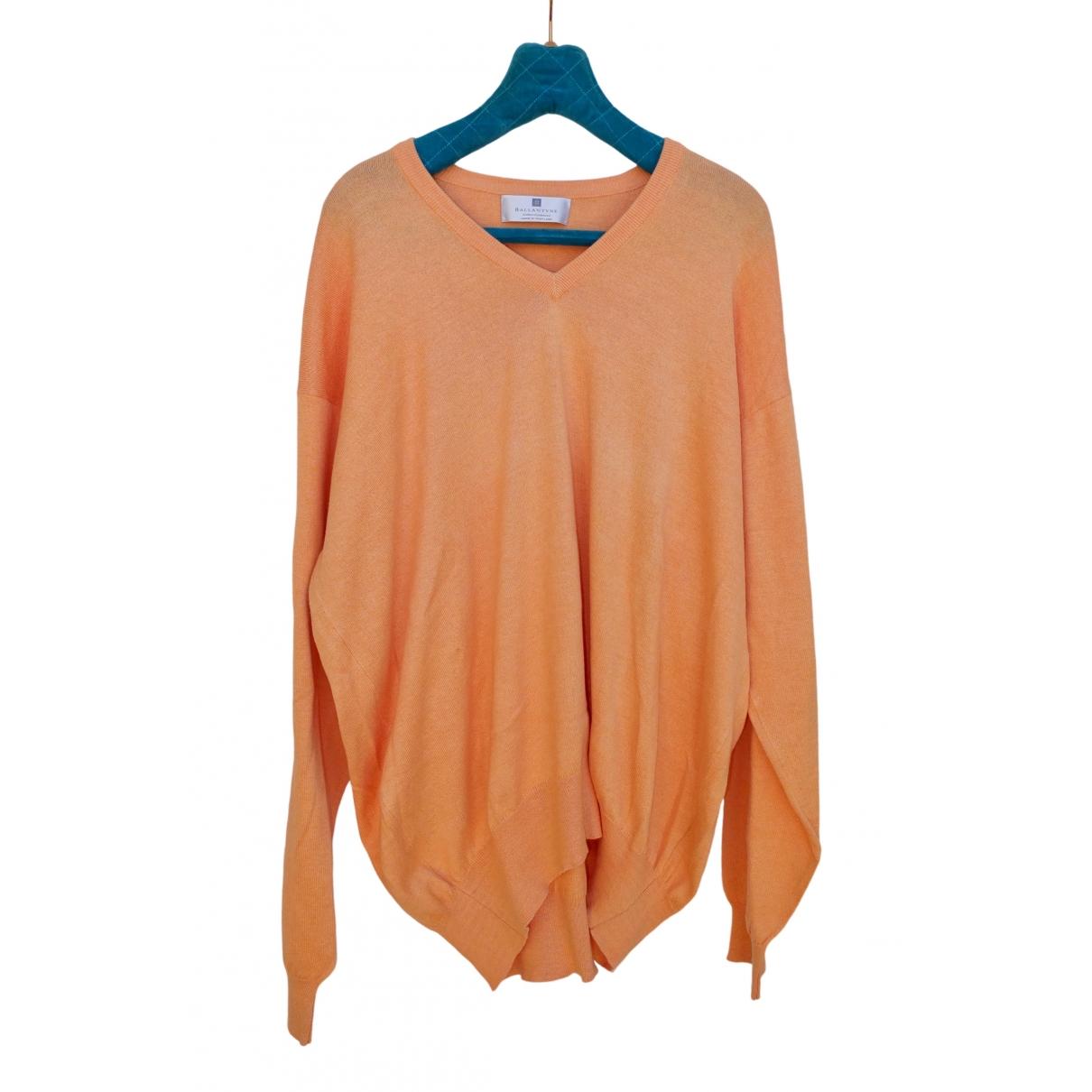 Ballantyne \N Pullover.Westen.Sweatshirts  in  Orange Baumwolle