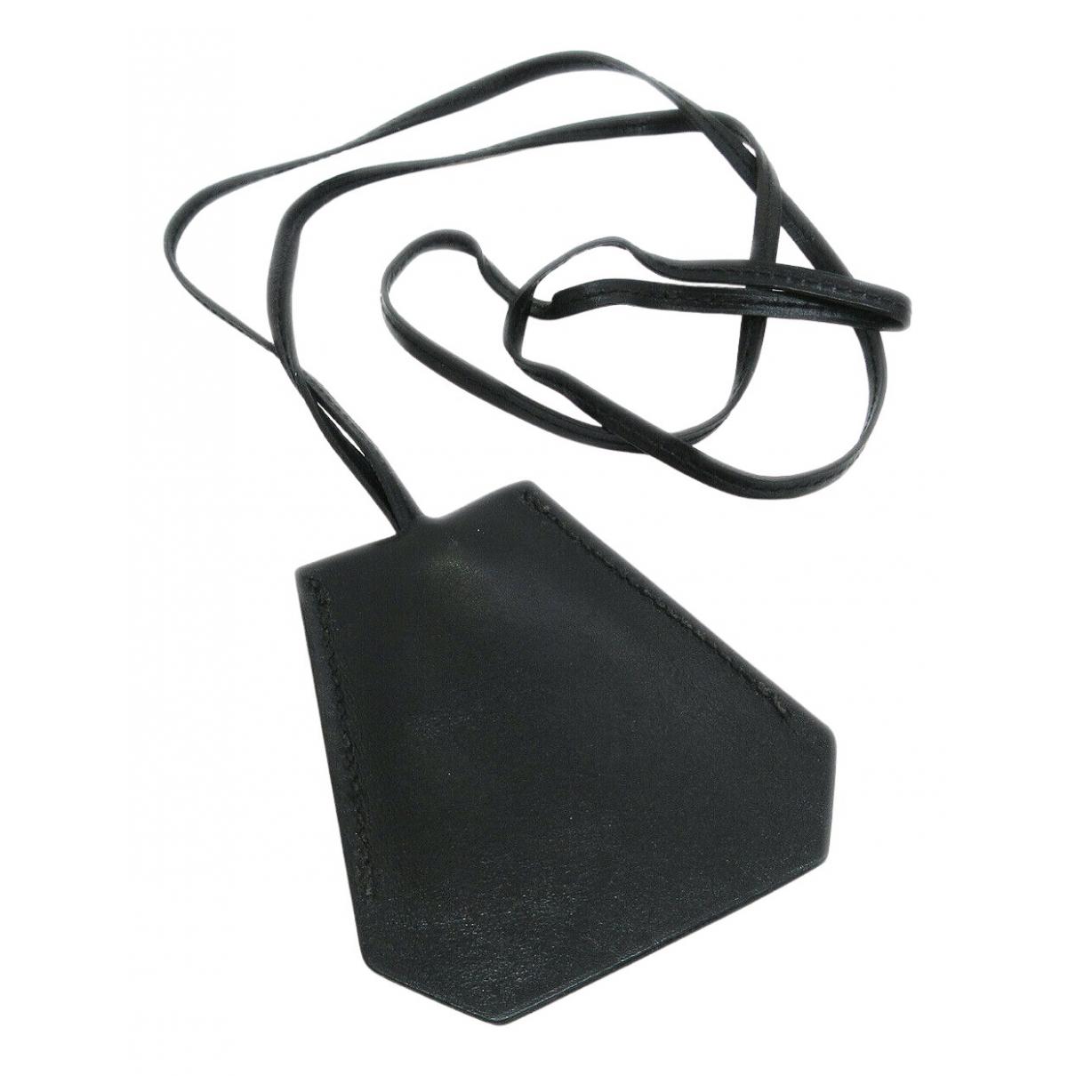 Hermes \N Kette in  Schwarz Leder
