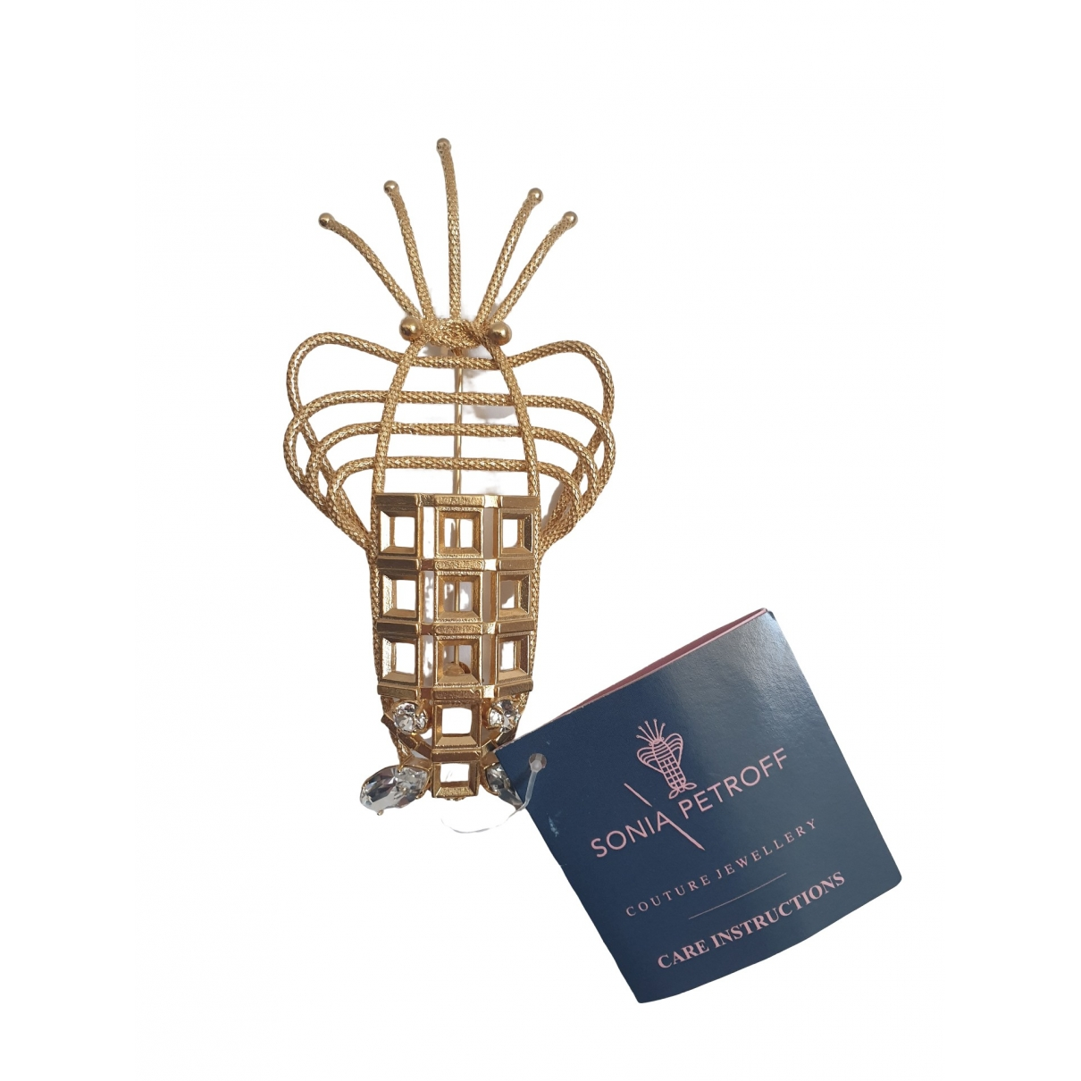 Non Signé / Unsigned \N Gold Yellow gold Pins & brooches for Women \N