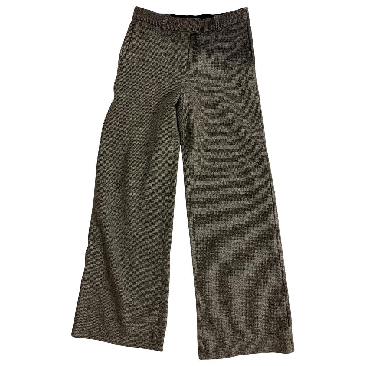 Maje \N Grey Wool Trousers for Women 34 FR