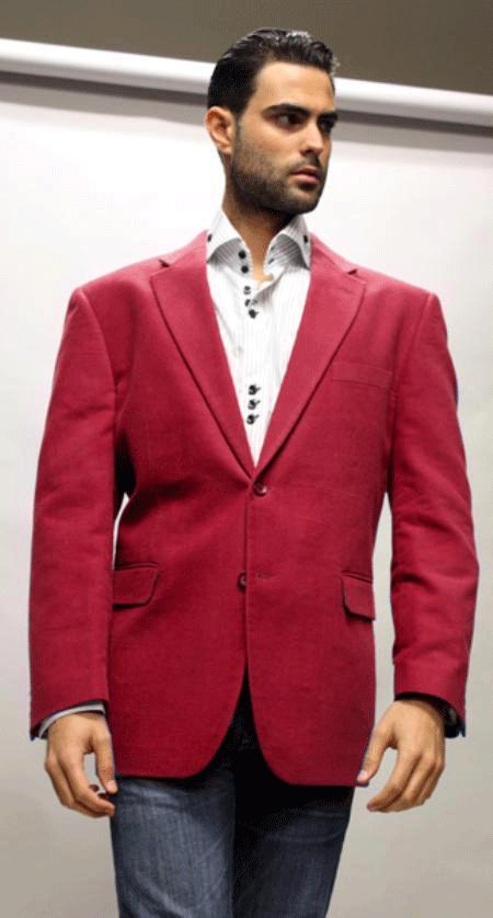 Sport Coat For All Occasion Winish Burgundy Maroon Velvet
