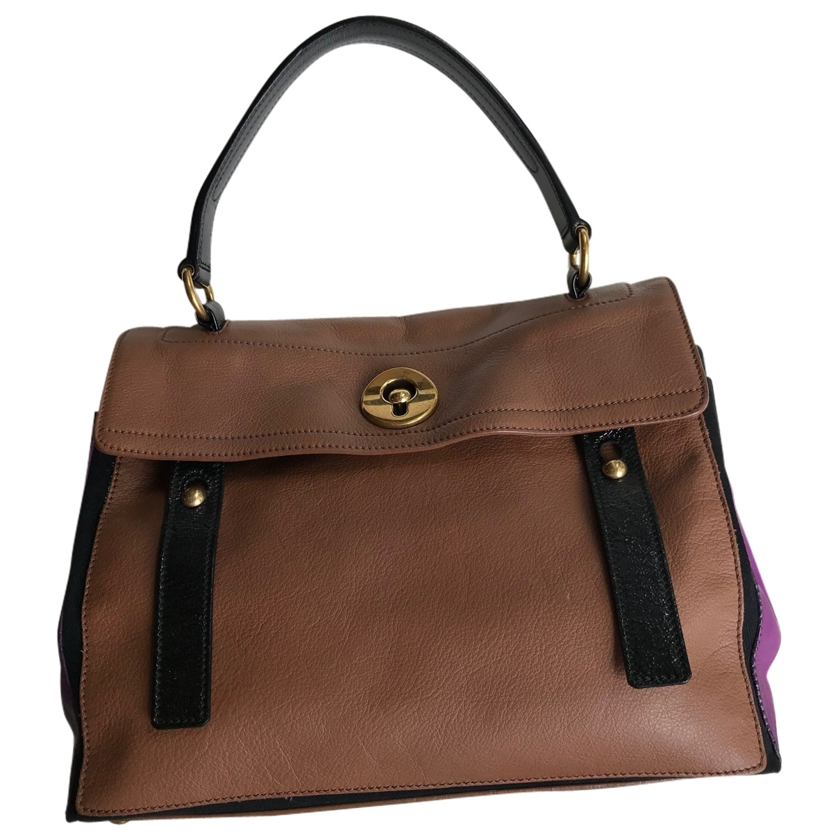 Yves Saint Laurent Muse Two Camel Leather handbag for Women \N