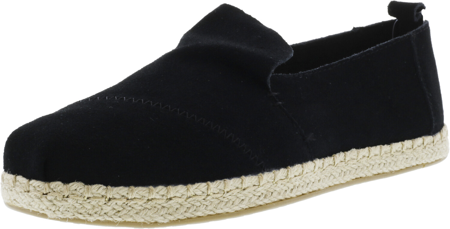 Toms Women's Deconstructed Alpargata Rope Suede Black Ankle-High Slip-On Shoes - 9M