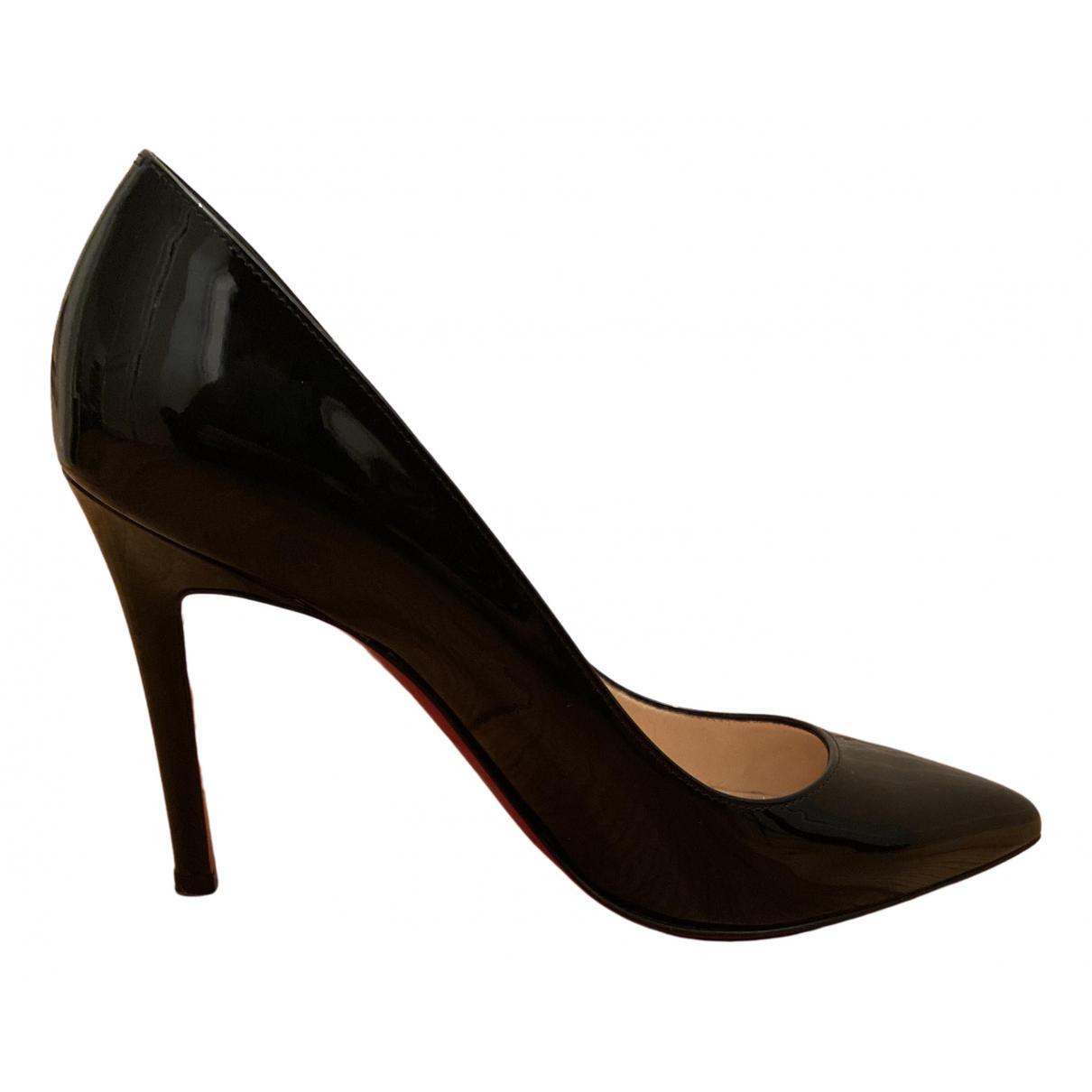 Christian Louboutin - Escarpins Pigalle pour femme en cuir verni - noir