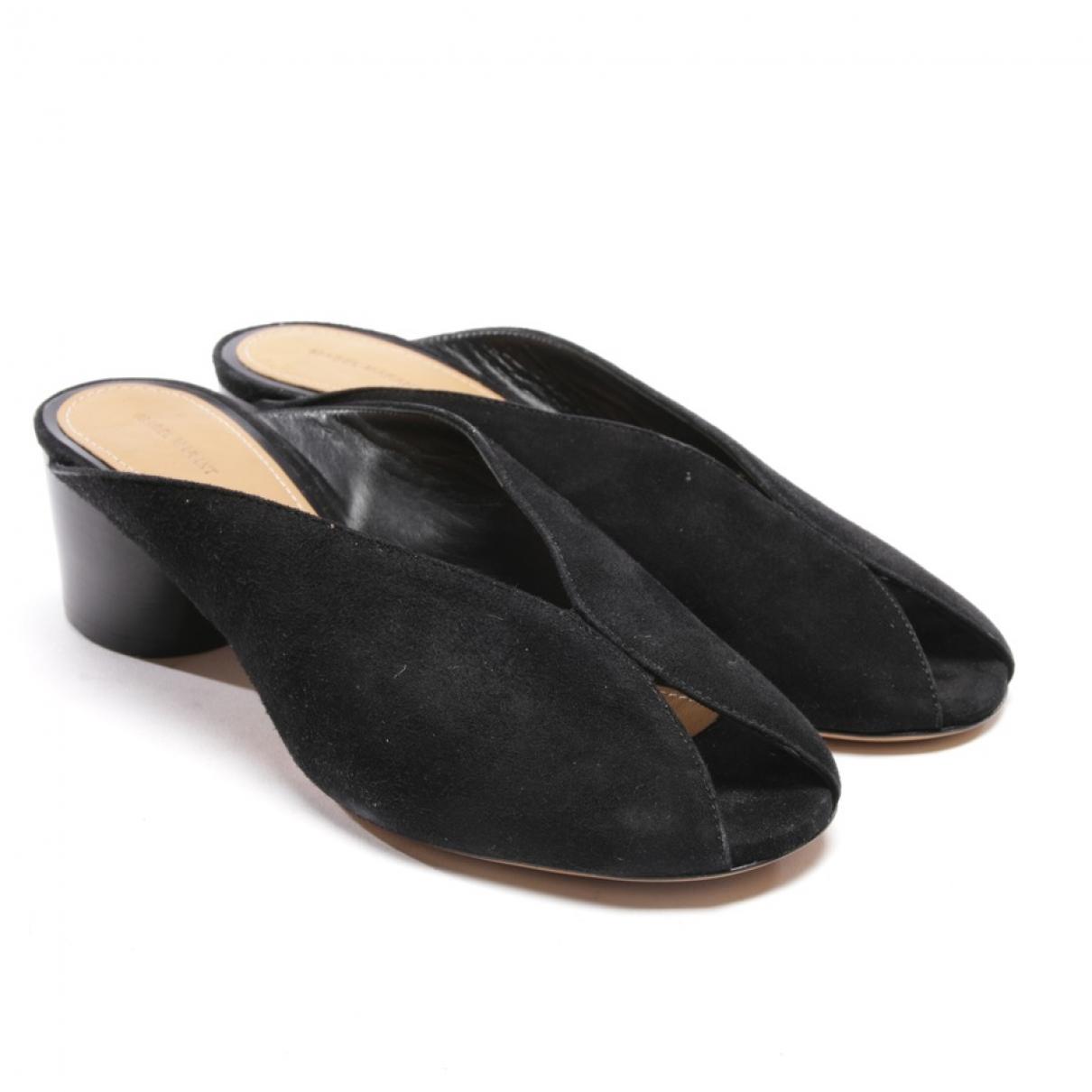 Isabel Marant - Sandales   pour femme en cuir - noir