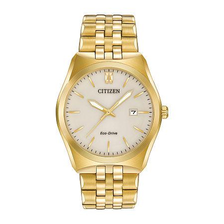 Citizen Corso Mens Gold Tone Stainless Steel Bracelet Watch-Bm7332-53p, One Size , No Color Family