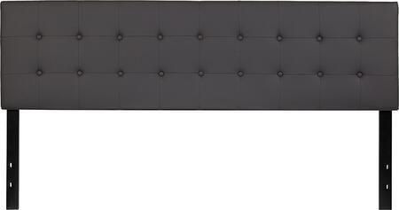 HG-HB1705-K-GY-GG Lennox Tufted Upholstered King Size Headboard in Gray