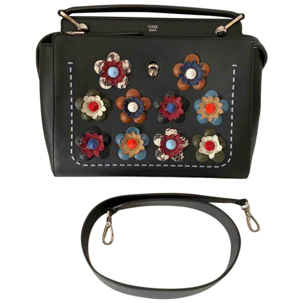 Fendi Dot Com Black Leather handbag for Women N
