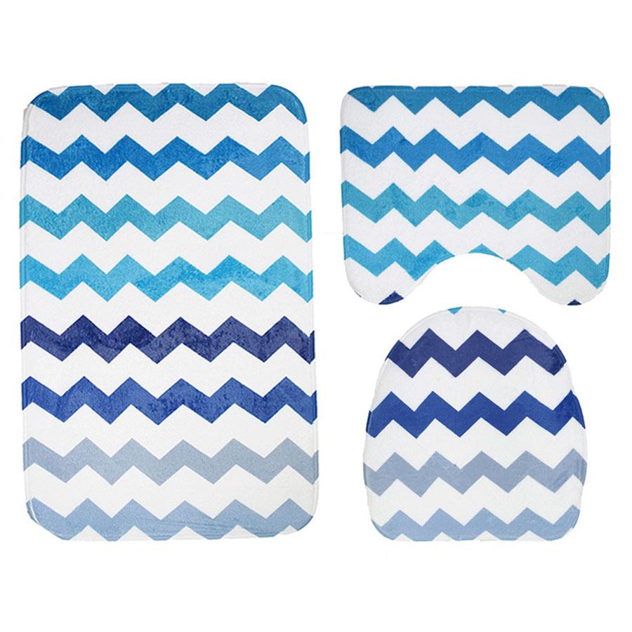 Eco-Friendly Three-Piece Set Print Pattern Toilet Seat Covers