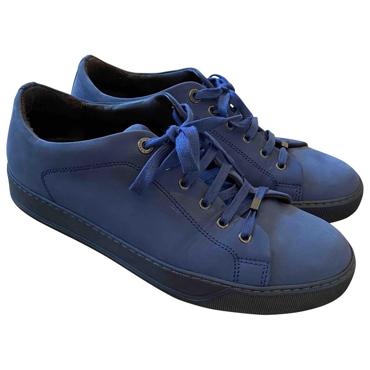 Lanvin \N Sneakers in  Blau Veloursleder