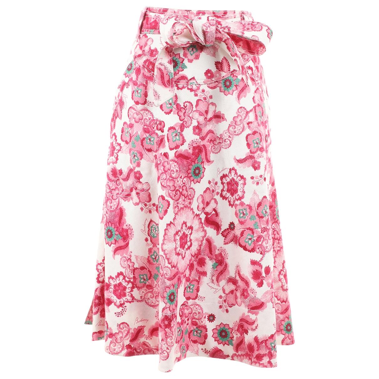 Burberry - Jupe   pour femme en lin - multicolore