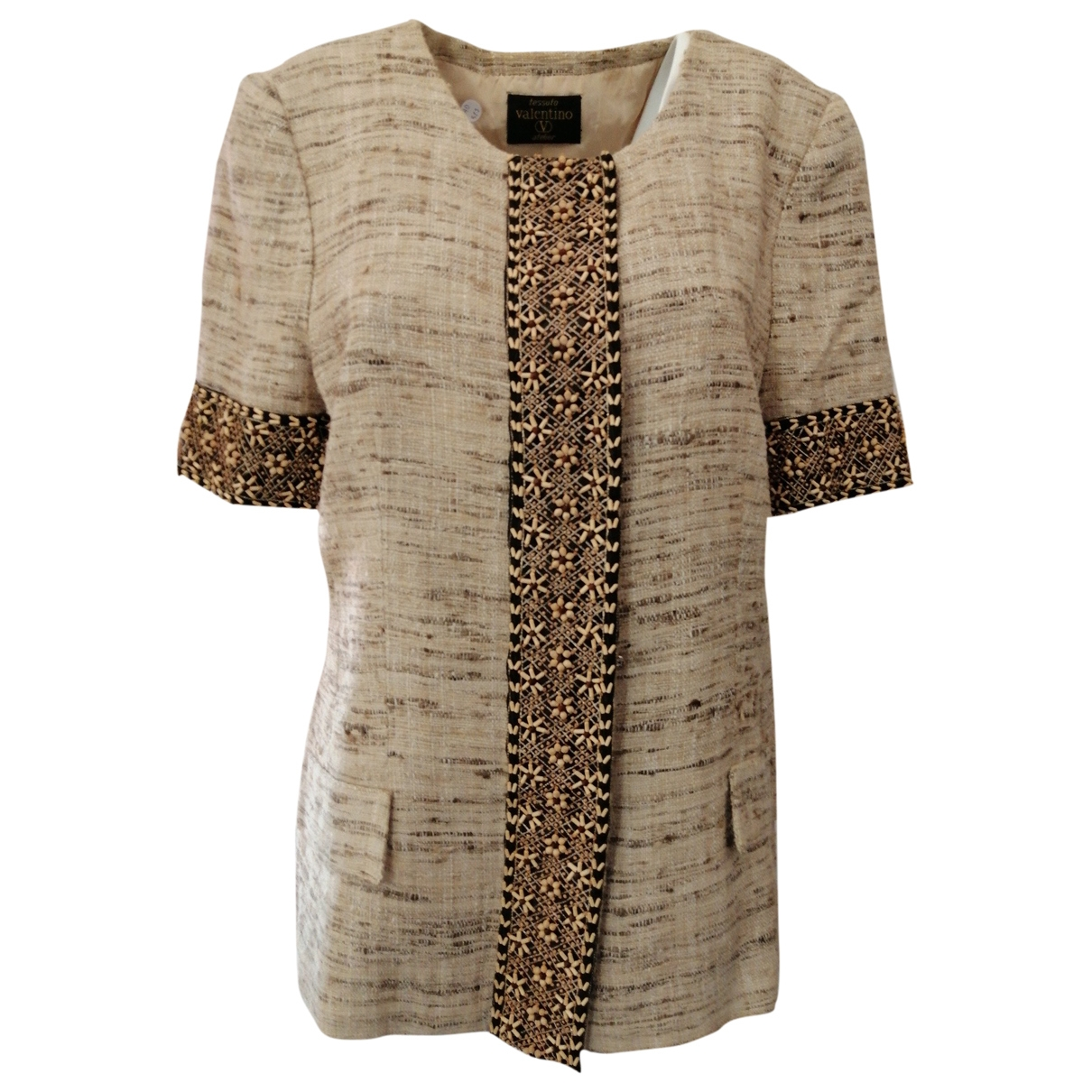 Valentino Garavani \N Beige Wool jacket for Women L International