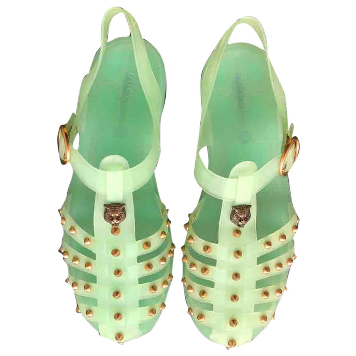 Gucci - Sandales   pour homme en caoutchouc - vert