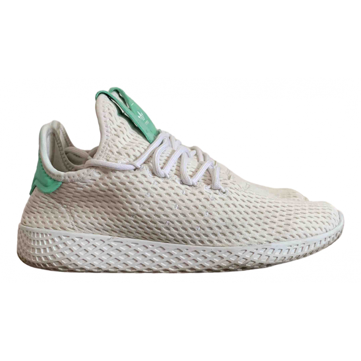 Adidas X Pharrell Williams - Baskets   pour femme en toile - blanc