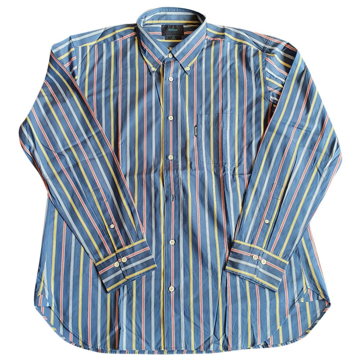 Faconnable \N Blue Cotton Shirts for Men XXL International