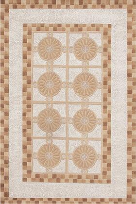 40046D 5 x 8 ft. Medallion Area Rug  in Brown and