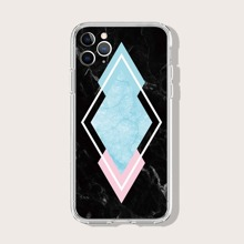 iPhone Schutzhuelle mit Geometrie & Marmor Muster