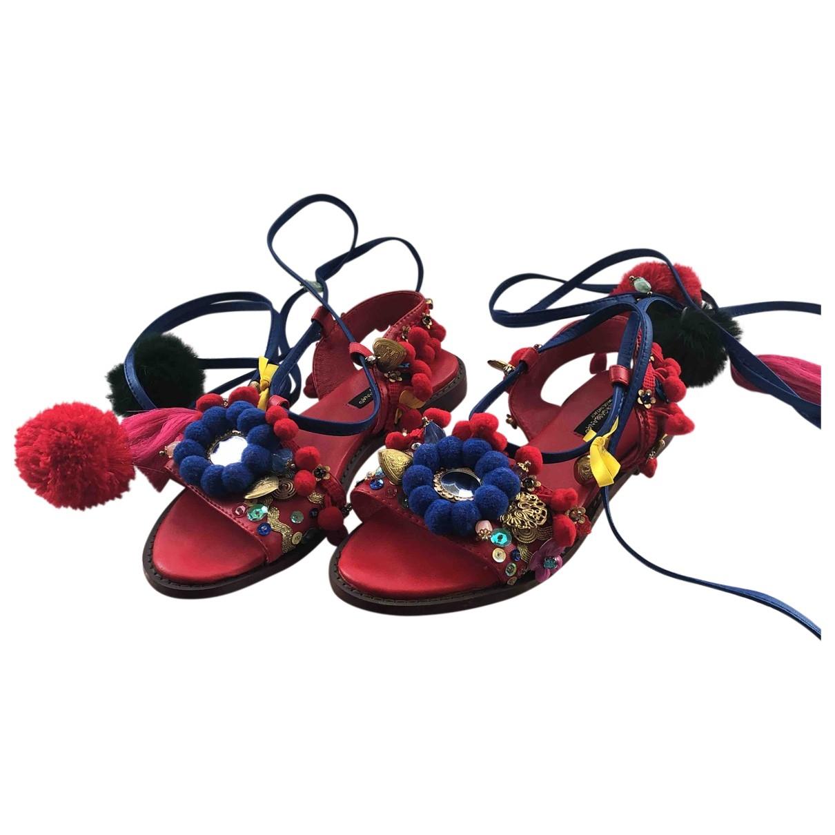 Dolce & Gabbana \N Multicolour Leather Sandals for Women 36 EU