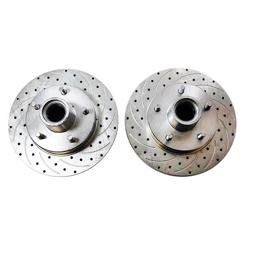 Racing Power Company R1701 Drilled & Slotted Front Brake Rotors 5 x 4.75
