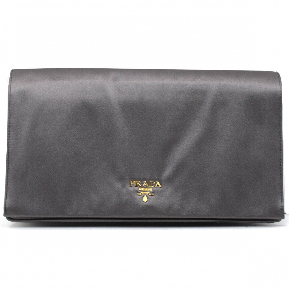 Prada \N Clutch in  Metallic Leinen