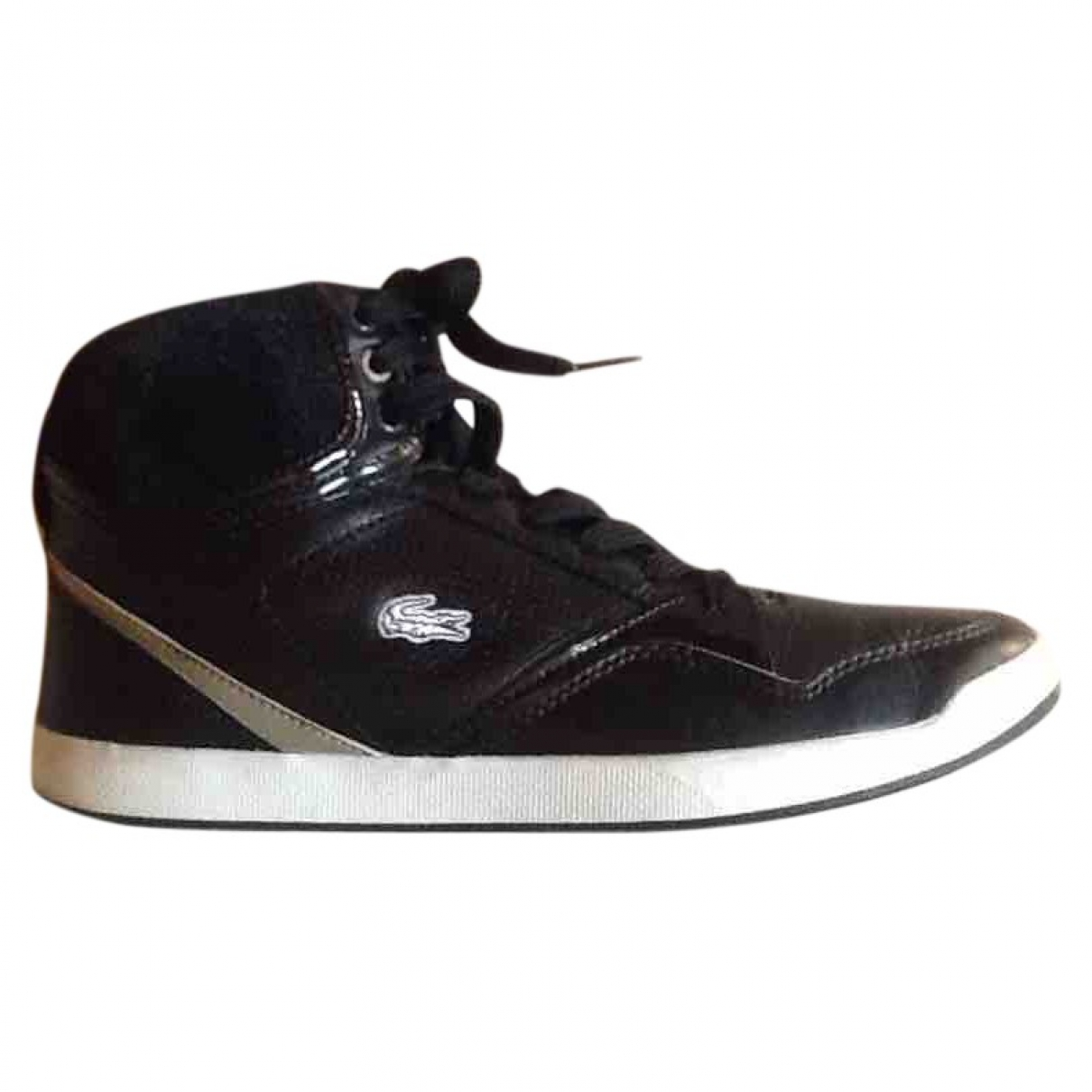 Lacoste \N Black Leather Trainers for Women 39 EU