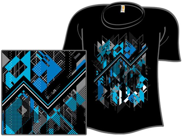 Blue Vectorfunk T Shirt