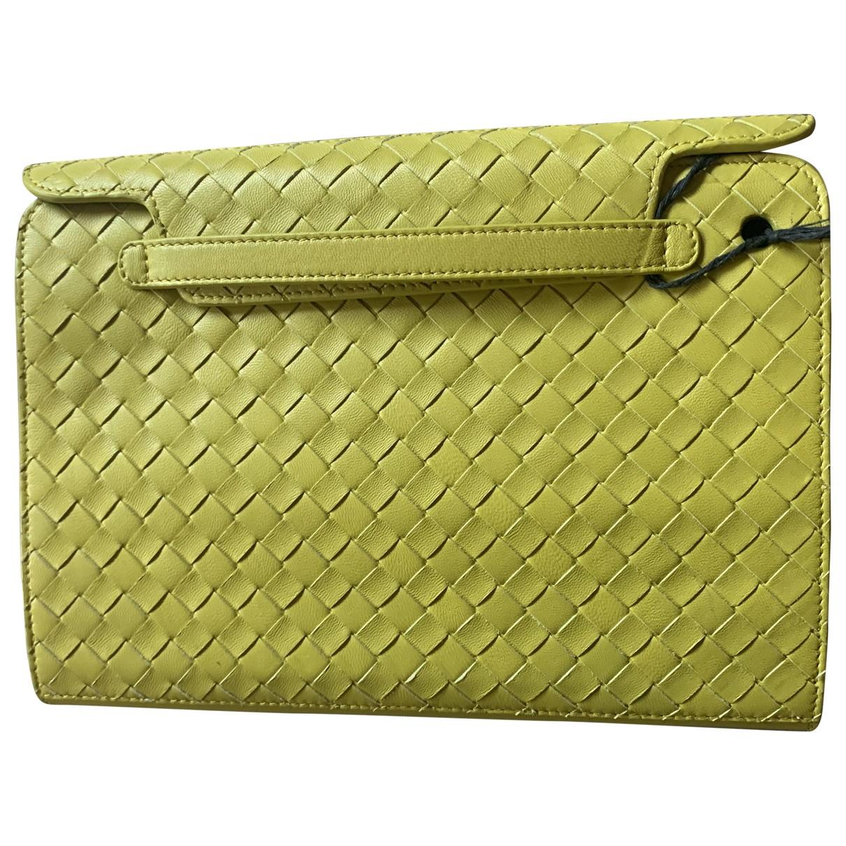 Bottega Veneta \N Accessoires in  Gelb Leder