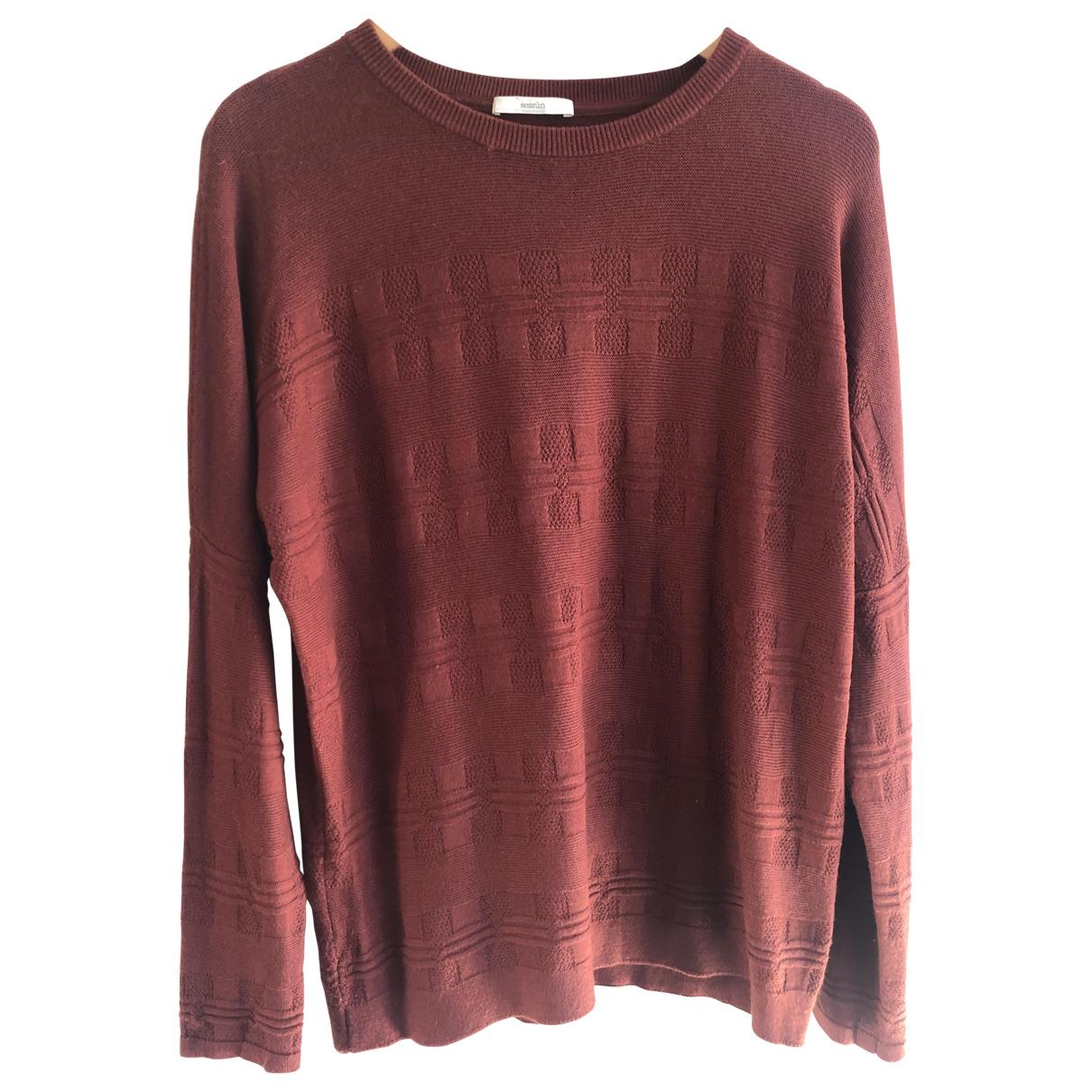 Sessun - Pull   pour femme en laine - bordeaux