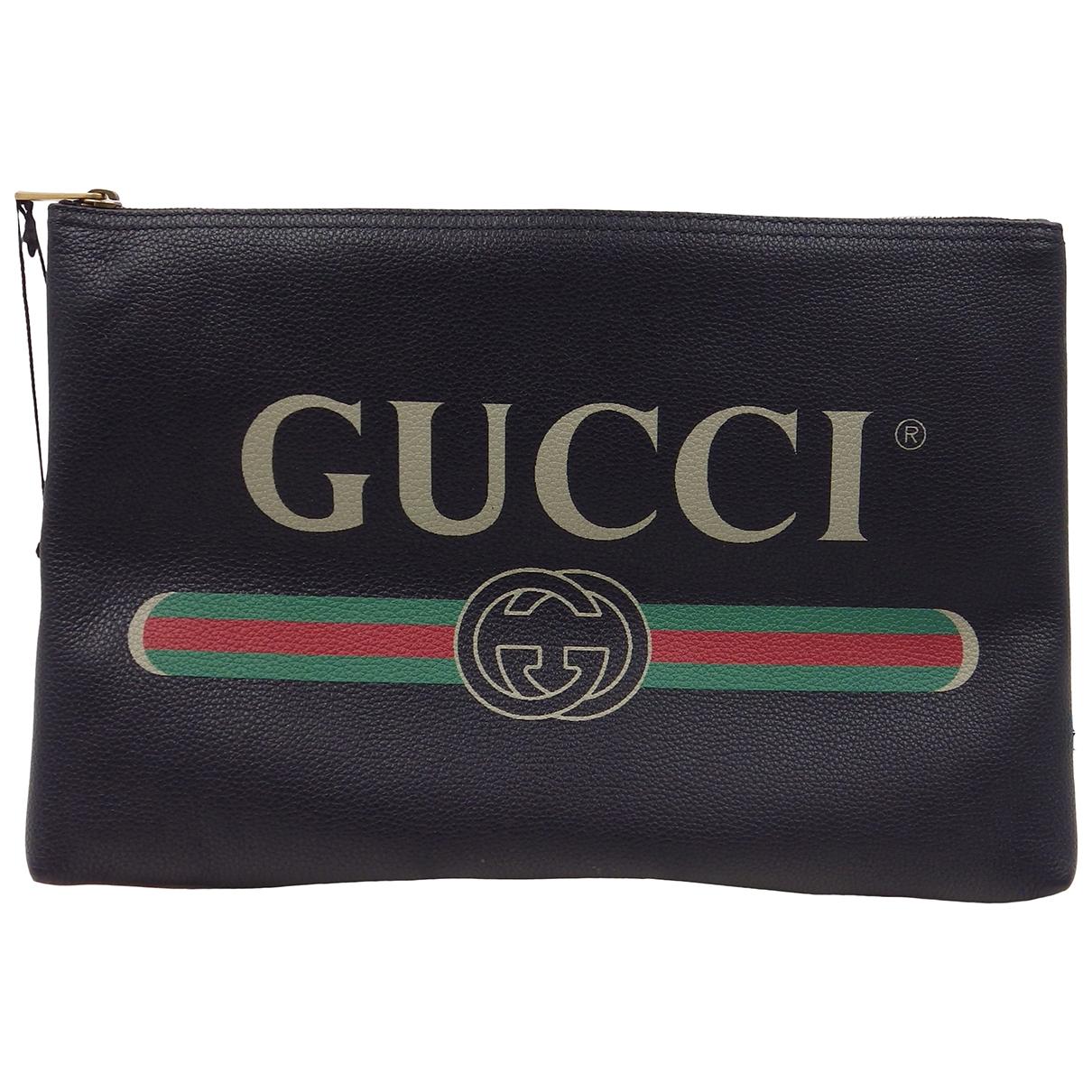 Gucci \N Black Leather Clutch bag for Women \N