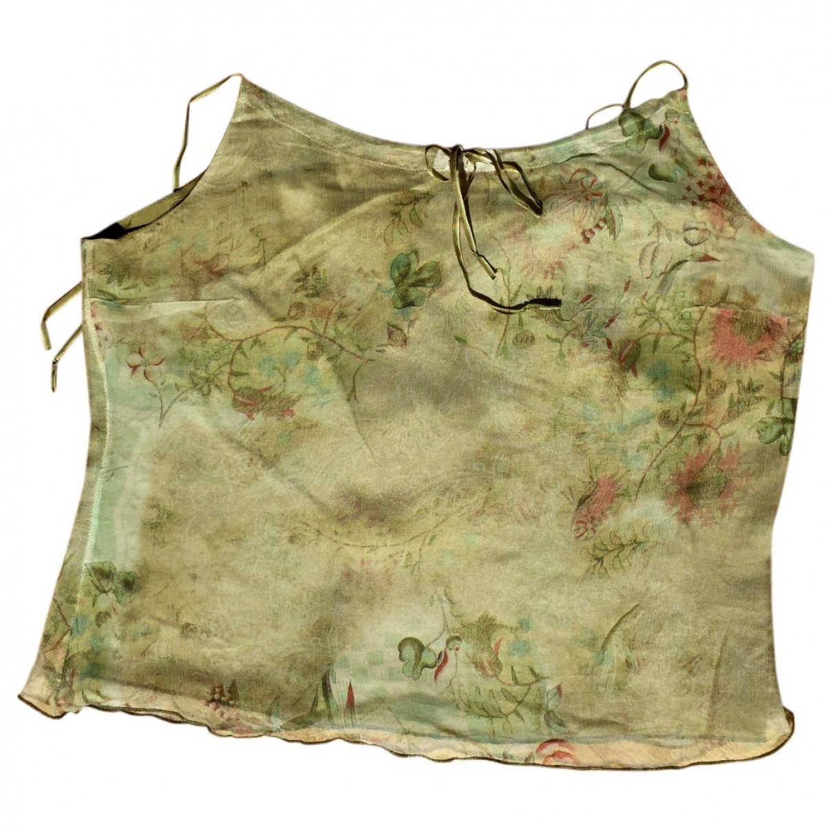 Non Signé / Unsigned \N Green Silk  top for Women 42 IT