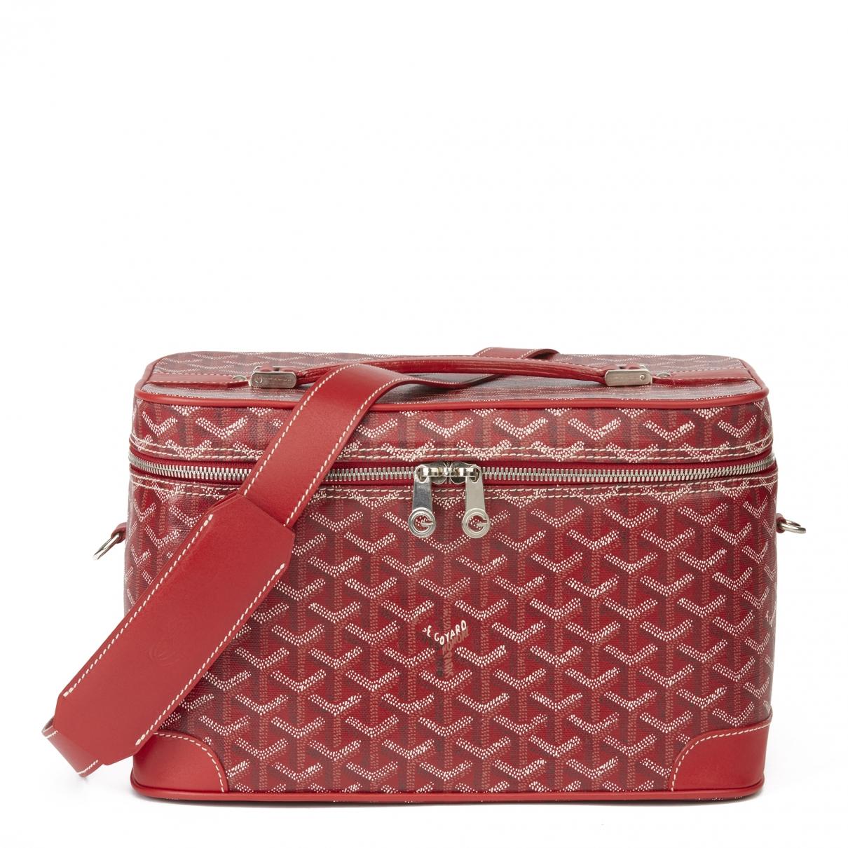 Goyard - Sac de voyage   pour femme en toile - rouge