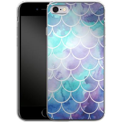 Apple iPhone 6s Silikon Handyhuelle - Purple Mermaid Scales von Becky Starsmore