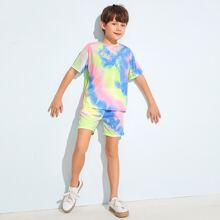Boys Tie Dye Top & Shorts Set