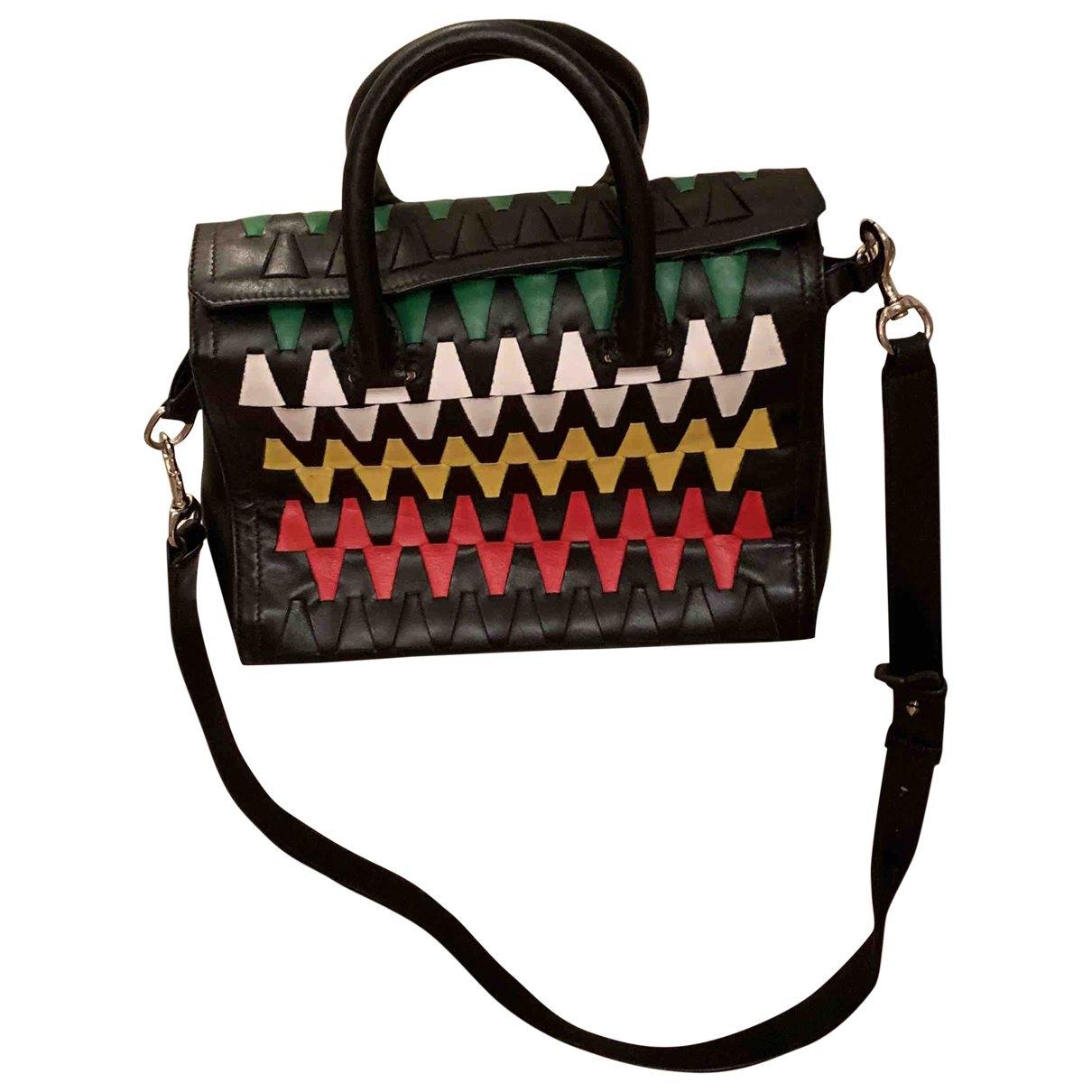 Elena Ghisellini \N Black Leather handbag for Women \N