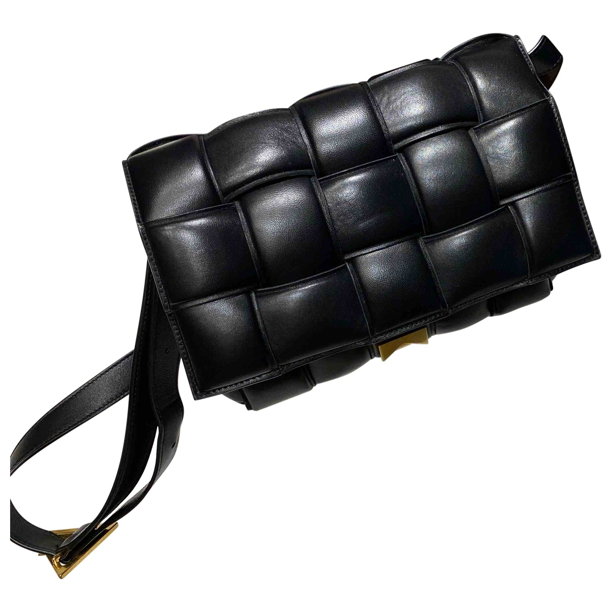 Bottega Veneta - Sac a main Cassette pour femme en cuir - noir