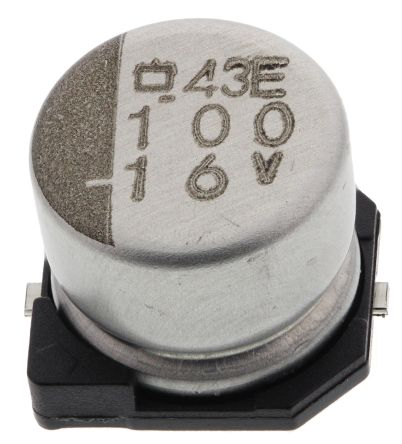Nippon Chemi-Con 100μF Electrolytic Capacitor 16V dc, Surface Mount - EMVE160ADA101MF55G (10)